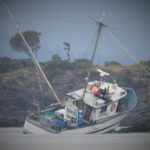 Fishing vessel aground