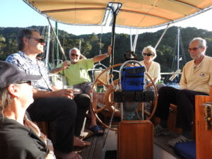 Guests aboard Mayaluga for curry dinner