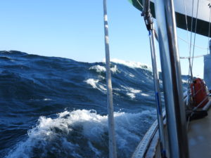 Clipping along at 7 knots
